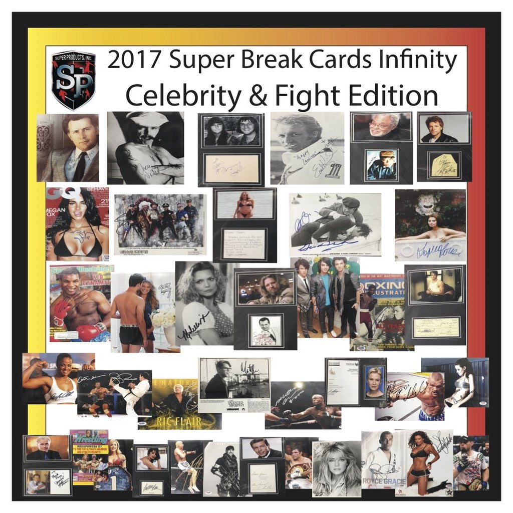 2017 Super Break 'Cards Infinity' Celebrity and Fight Edition 10 Box Case
