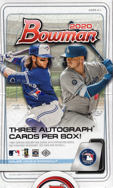 2020 Bowman Baseball Jumbo HTA Box