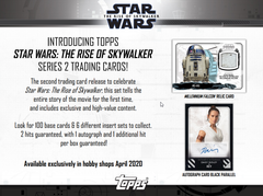 2020 Topps Star Wars The Rise of Skywalker Series 2 Hobby Box