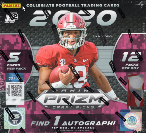 2020 Panini Prizm Collegiate Draft Picks Football Hobby Hybrid Box