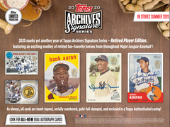 2020 Topps Archives Signature Series Retired Player Baseball Box