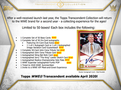 2020 Topps WWE Transcendent Collection Wrestling Case