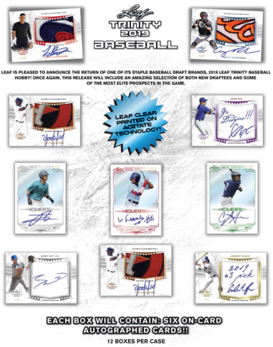 2019 Leaf Trinity Baseball Hobby Box