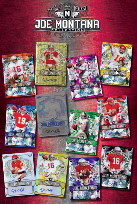 2020 Leaf Metal Joe Montana Collection Football Hobby Box
