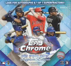 2020 Topps Chrome Update Sapphire Edition Baseball Box