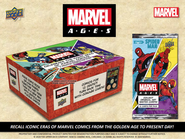 2020 Upper Deck Marvel Ages Hobby Box