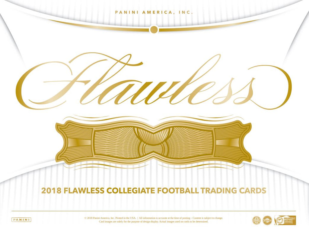 2018 Panini Flawless Collegiate Football Hobby Box ( SEPT 26th )