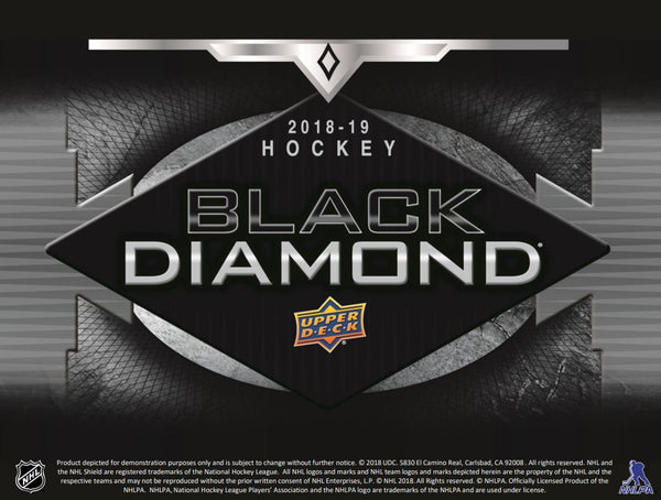 2018/19 Upper Deck Black Diamond Hockey Hobby Box