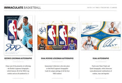 * 2018/19 Panini Immaculate NBA Basketball 5 Box Case 'Pick Your Team' GB # 2