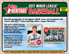 2017 Topps Heritage Minor League Baseball Hobby Box