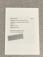 2019 Panini National Treasures Luis Urias HOLO GOLD Autograph Rookie Card. Serial #d /25
