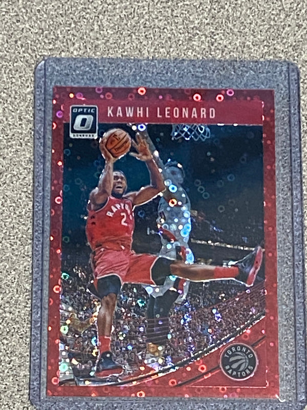 2018/19 Donruss Optic Fast Break Kawhi Leonard RED Disco Card.  Serial # 45/85