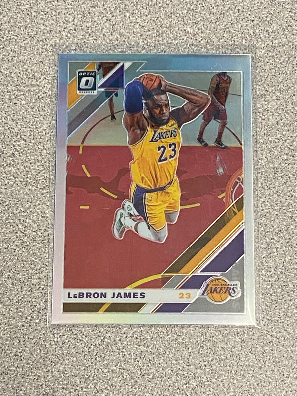 2019/20 Panini Donruss Optic LeBron James SILVER Prizm Card. Card # 60