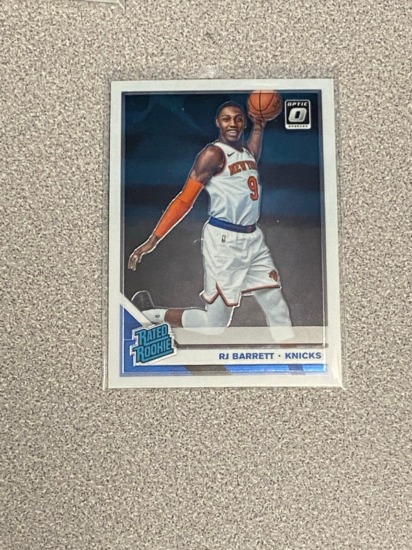 2019/20 Panini Donruss Optic RJ Barrett Rookie Card.  Card # 178