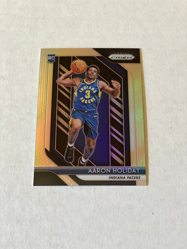 2018/19 Panini Prizm Aaron Holiday SILVER Rookie Card. Card # 114