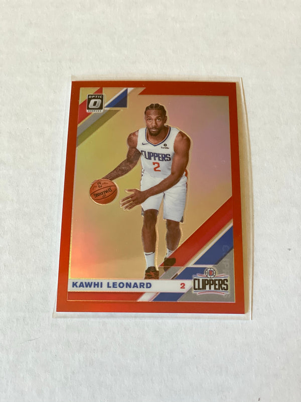 2019/20 Panini Donruss Optic Kawhi Leonard RED Prizm Card. Serial #d 84/99