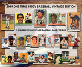2019 One Time 1950s Baseball Vintage Edition Hobby Box