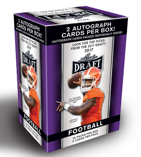 2017 Leaf Draft Football Blaster Box