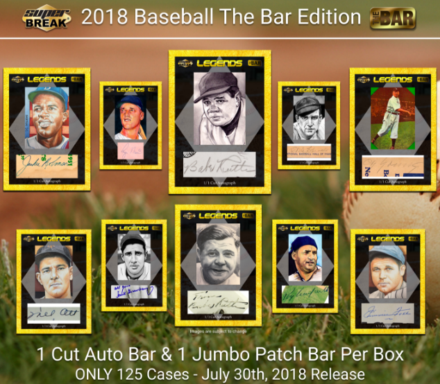 2018 Super Break The Bar 1/1 Premier Edition Baseball Hobby Box