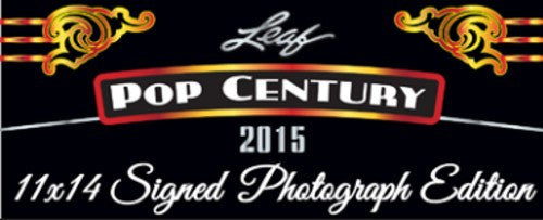 2015 Leaf Pop Century Signed 11x14 Photograph Edition Hobby Box