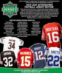 2019 Leaf Autographed Football Jersey Edition Hobby Box