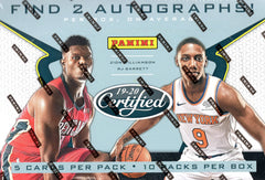 2019/20 Panini Certified Basketball Hobby Box