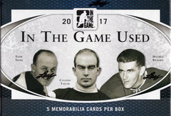 2017 Leaf In The Game (ITG) Game Used Hockey Hobby Box