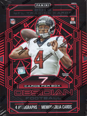 2019 Panini Obsidian Football Hobby Box