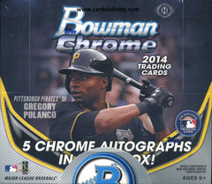 2014 Bowman Chrome Baseball Jumbo Hobby Box