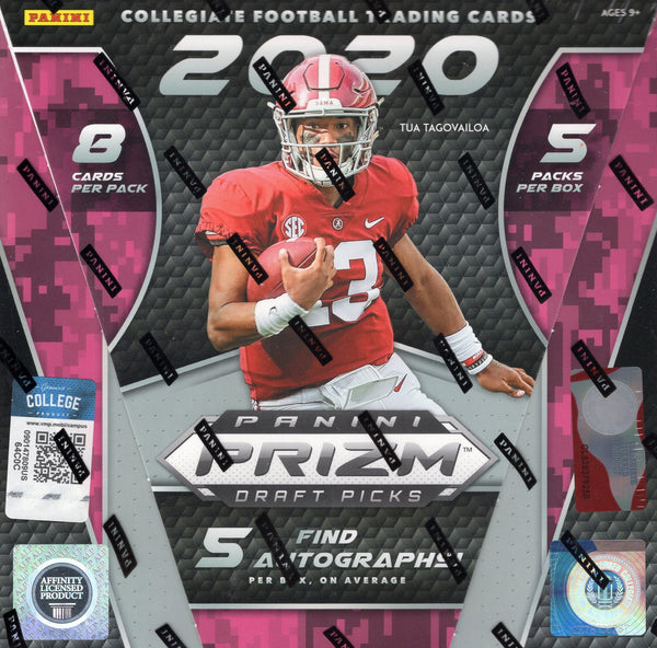 2020 Panini Prizm Collegiate Draft Picks Football Hobby Box