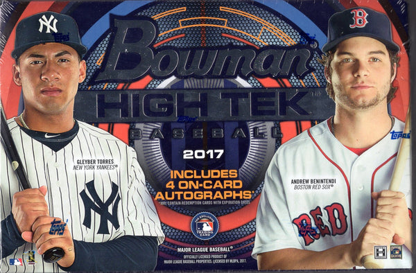 2017 Bowman High Tek Baseball Hobby Box
