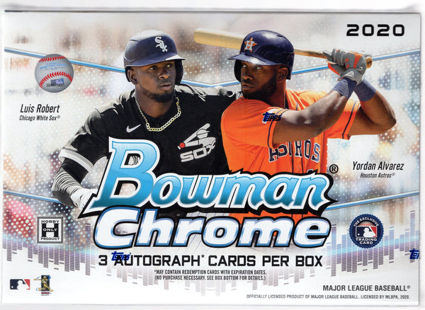 2020 Bowman Chrome Baseball HTA Jumbo Choice Box