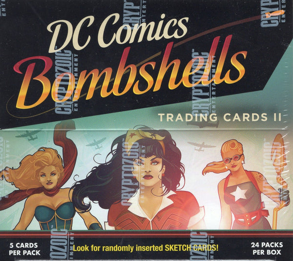 2018 Cryptozoic DC COMICS: Bombshells Series 2 Trading Cards Hobby Box