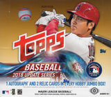 2018 Topps Update Series Baseball + 2 Silver Packs JUMBO Box