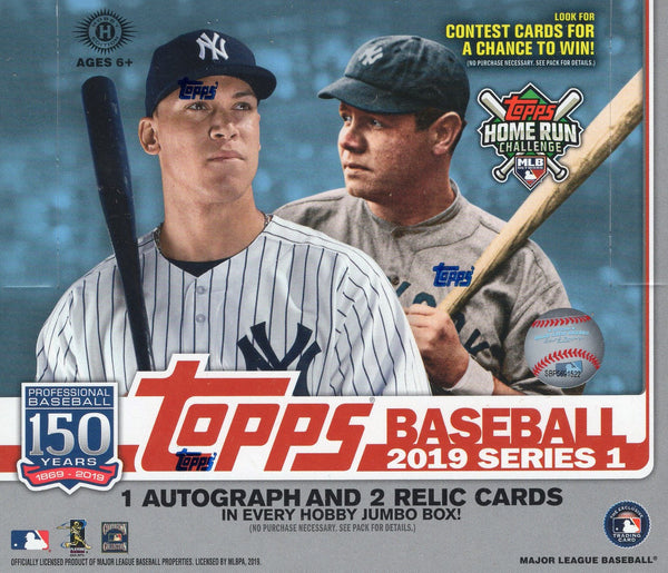 2019 Topps Series 1 Baseball JUMBO Box + 2 Silver Packs