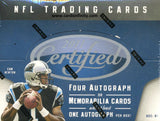 2011 Panini Certified Football Hobby Box.