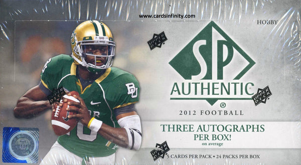 2012 Upper Deck SP Authentic Football Hobby Box