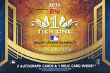 2015 Topps Tier ONE Baseball Asia Edition Hobby Box