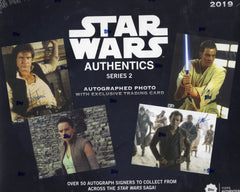 2019 Topps Star Wars Authentic Series 2 Autographed Photo Hobby Box