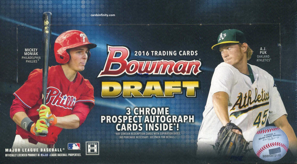 2016 Bowman Draft Picks & Prospects Baseball JUMBO Hobby Box
