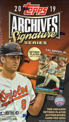 2019 Topps Archives Signature Series Retired Player Edition Baseball Box