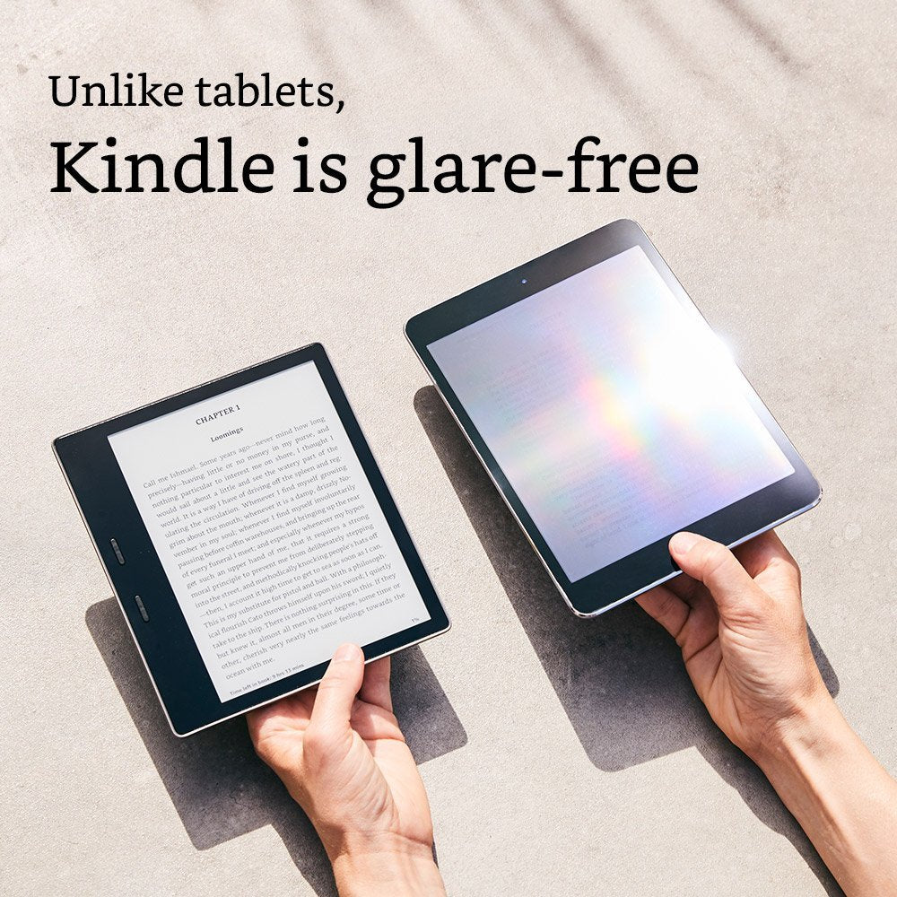 "Amazon Kindle Oasis - 7"" (300 ppi), 8 GB, Wi-Fi - Includes Special Offers (US Set, 9th Generation)"
