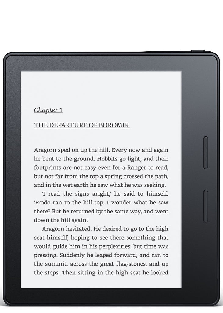 Amazon Kindle Oasis, Black Leather Charging Cover, Wi-Fi with Advertisements (US Set, 2016)