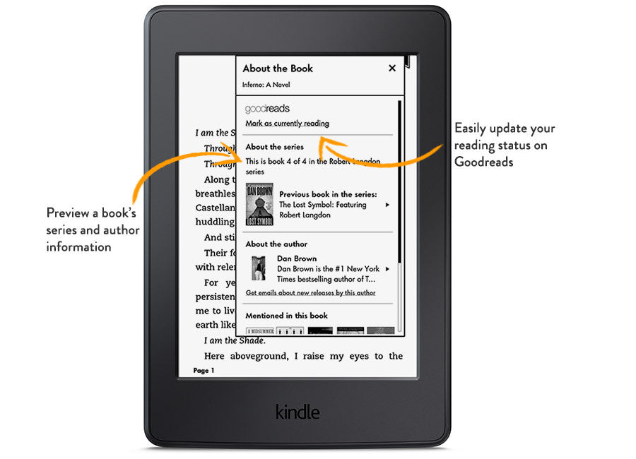 Amazon Kindle Paperwhite, Black, Wi-Fi with Advertisements (4GB, 7th Generation)
