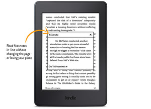 [redacted] Amazon Kindle Paperwhite, Black, Wi-Fi without Advertisements (US Set, 7th Generation)