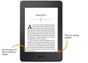 Amazon Kindle Paperwhite, White, Wi-Fi with Advertisements (4GB, 7th Generation)