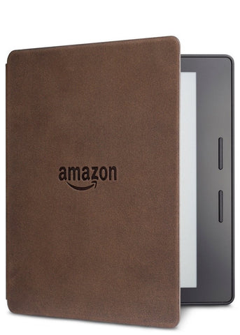 Amazon Kindle Oasis, Walnut Charging Cover, Wi-Fi with Advertisements (US Set, 2016)