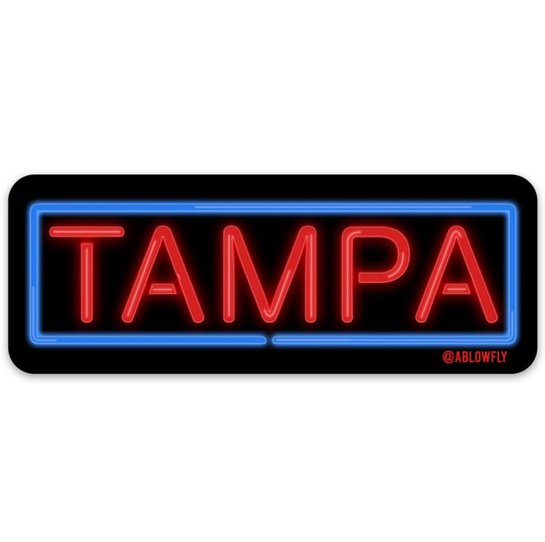 Tampa Neon Sign Sticker