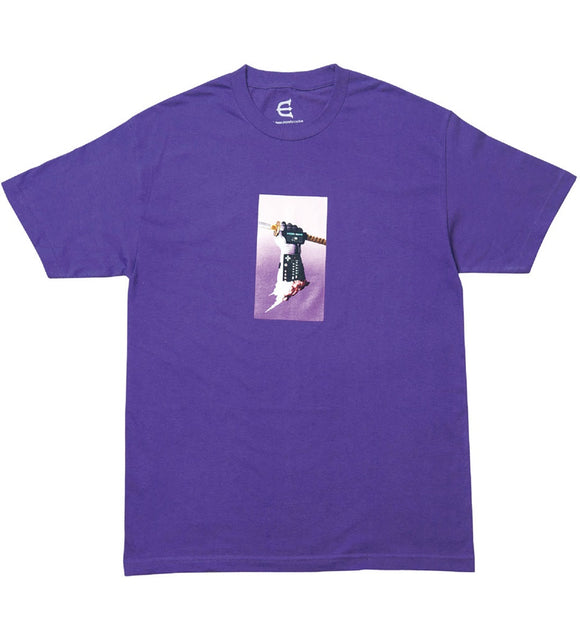 EVISEN NICE, GLOVE MAN TEE - PURPLE