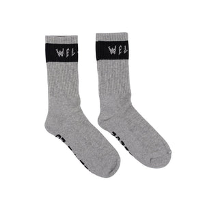 WELCOME SUMMON SOCKS - HEATHER/BLACK